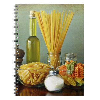 aglio, olio e peperoncino (garlic, oil and chili) spiral notebook
