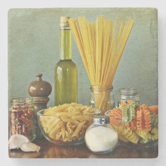 aglio, olio e peperoncino (garlic, oil and chili) stone beverage coaster