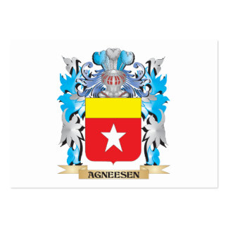 Agneesen Coat Of Arms Business Card