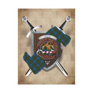 Agnew Clan Badge Crossed Swords Canvas Print