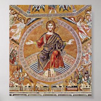 Agnolo Gaddi - Christ Pantokrator Poster