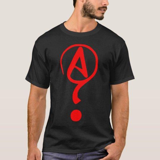 Agnostic Question Mark Athiest Symbol Shirt