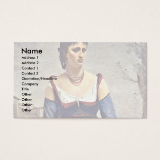 Agostina The Italian By Corot Jean-Baptiste-Camill Business Card