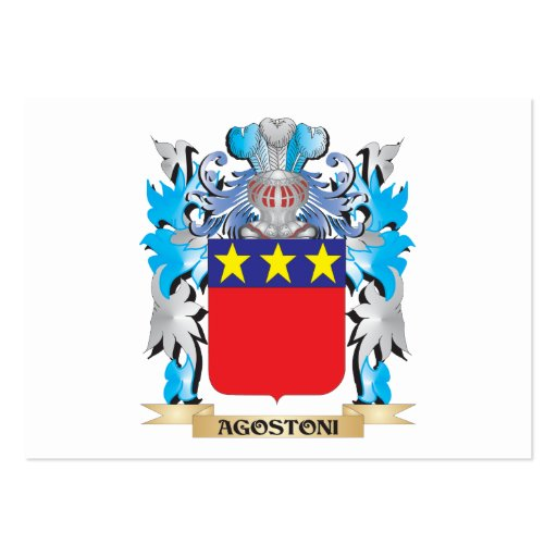 Agostoni Coat Of Arms Business Card Templates