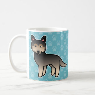 Agouti Cartoon Siberian Husky Coffee Mug
