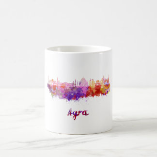 Agra skyline in watercolor coffee mug