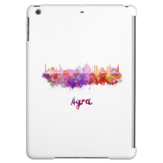 Agra skyline in watercolor iPad air cover