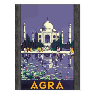 Agra, Vintage Postcard