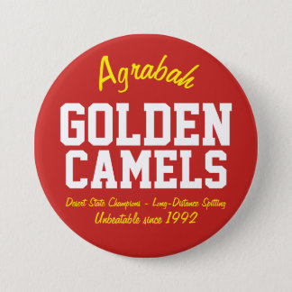 Agrabah Golden Camels 3 Inch Round Button