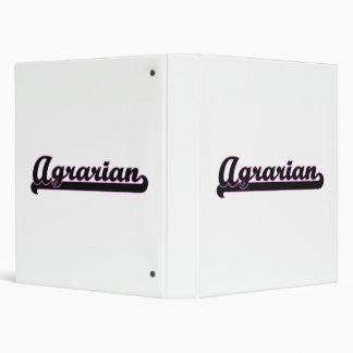 Agrarian Classic Job Design Vinyl Binder
