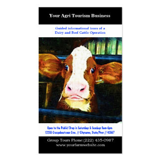 Agri Tourism Agricultural Dairy Beef Farming Pack Of Standard Business Cards