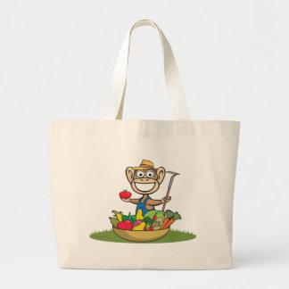 Agriculteur de singe sac en toile