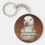 Agriculteur Keychain de poulet avec le poussin de  Porte-clef