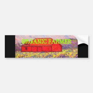 agriculteur organique avec l'art rouge de grange autocollant de voiture