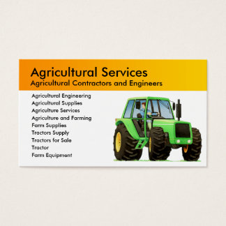 Agriculture and Agricultural Contractor Business Card