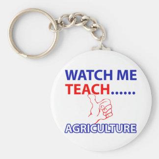 Agriculture design basic round button keychain