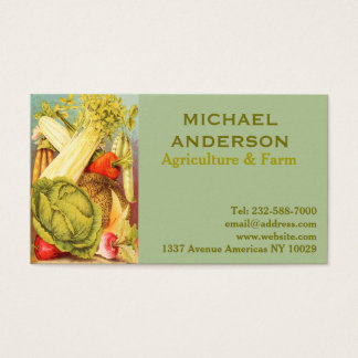 Agriculture, farming and veg shop business card