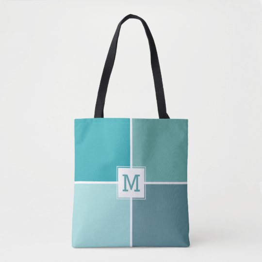 Agua Tiles custom monogram bags