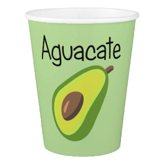 Aguacate (Avocado) Paper Cup