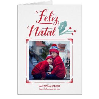 Aguarela & Caligrafia   Feliz Natal Card