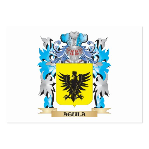Aguila Coat Of Arms Business Card Template