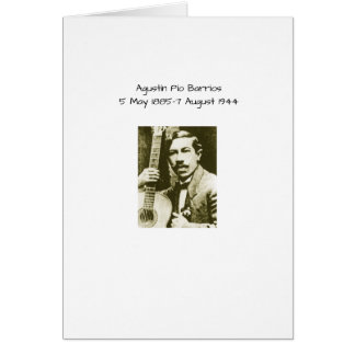 Agustin Pio Barrios Card