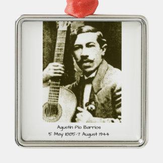 Agustin Pio Barrios Metal Ornament