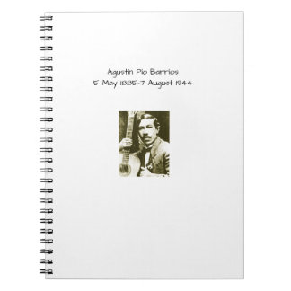 Agustin Pio Barrios Spiral Notebook