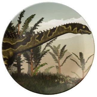 Agustinia dinosaur - 3D render Plate
