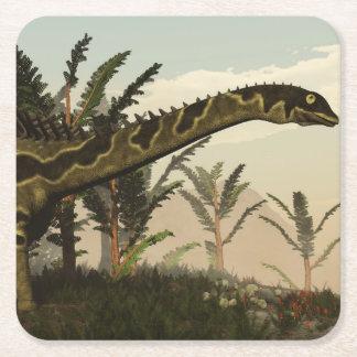 Agustinia dinosaur - 3D render Square Paper Coaster
