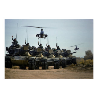 AH-1 Cobras and M60 Pattons Poster