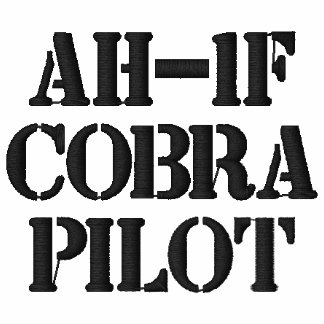 AH-1F Cobra PILOT EMBROIDERED Polos