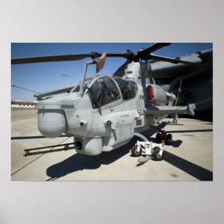 AH-1Z Super Cobra attack helicopter Poster