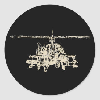 AH-64 Apache Classic Round Sticker