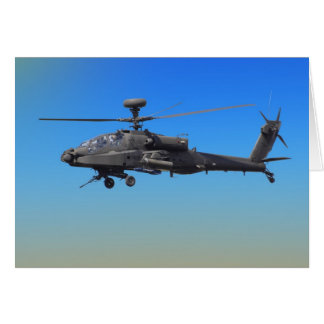 AH-64 Apache Helicopter Card