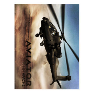 AH-64 Apache Helicopter Postcard