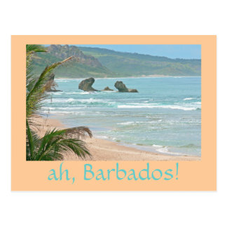 """ah, Barbados!"" postcard (photog. seascape)"
