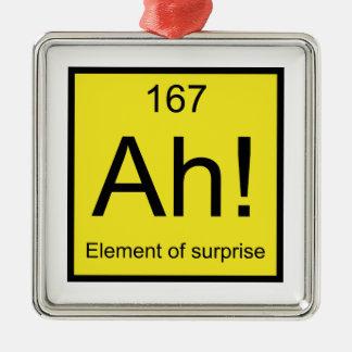 Ah! Element of Surprise Metal Ornament