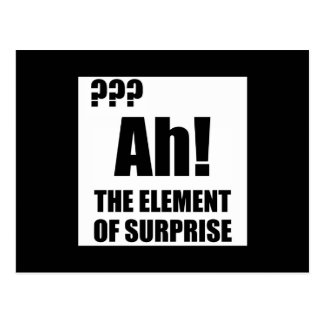 Ah Element Of Surprise Postcard