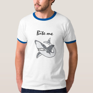 AH- Funny Bite Me Shark Shirt