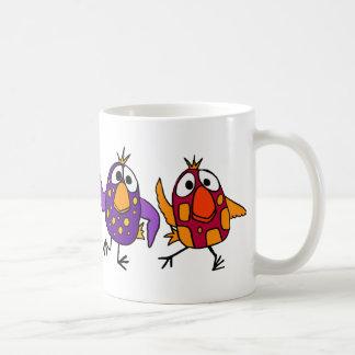 AH- Hilarious Dancing Birds Cartoon Classic White Coffee Mug