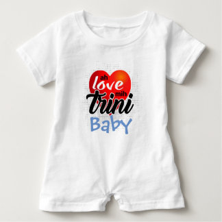Ah Love mih Trini (your text)! 4 lite Baby Romper