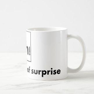 Ah - The Element of Surprise Coffee Mug