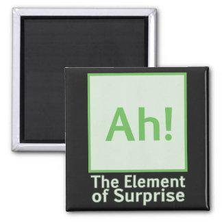 Ah! The element of surprise Fridge Magnet