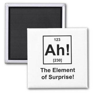 Ah! The Element of Surprise Fridge Magnets