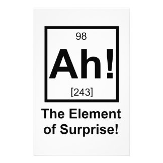 Ah the Element of Surprise Periodic Element Symbol Stationery