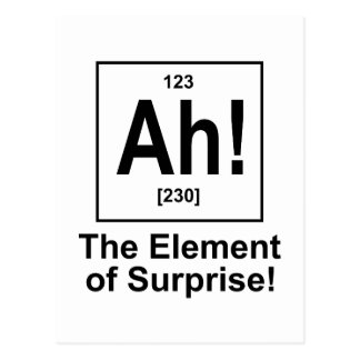 Ah! The Element of Surprise. Postcard