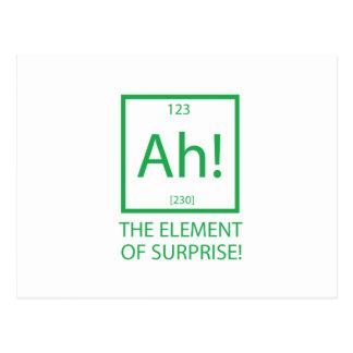 Ah the element of surprise postcard