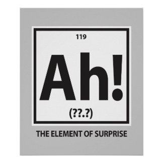 Ah!  The element of surprise Poster