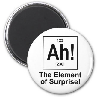 Ah The Element of Surprise Refrigerator Magnet